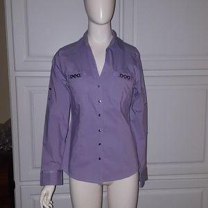 EXPRESS, The Essential Shirt, lavender